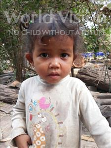 Choose a child to sponsor, like this little girl from Soutr Nikom, Tola age 2