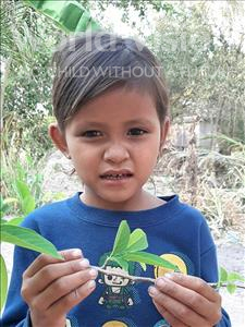 Sovann, aged 6, from Cambodia, is hoping for a World Vision sponsor