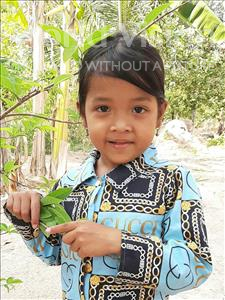 Choose a child to sponsor, like this little girl from Soutr Nikom, Vannnaet age 5