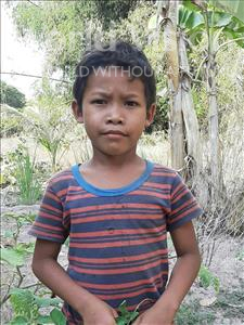 Samnang, aged 7, from Cambodia, is hoping for a World Vision sponsor