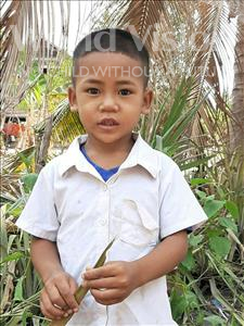 Ra Chhet, aged 5, from Cambodia, is hoping for a World Vision sponsor