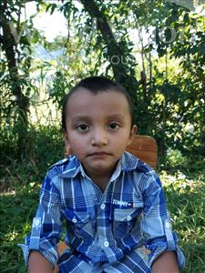 Grevin Oveth, aged 5, from Honduras, is hoping for a World Vision sponsor