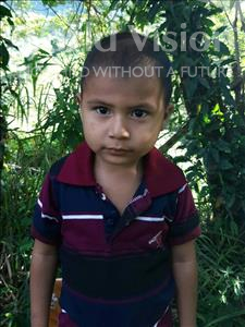 Mayron Ulices, aged 3, from Honduras, is hoping for a World Vision sponsor
