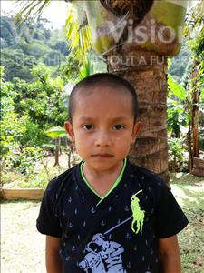 Fredi Adaly, aged 6, from Honduras, is hoping for a World Vision sponsor
