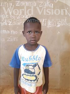 Choose a child to sponsor, like this little boy from Sirba, Modi age 5
