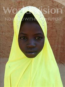 Choose a child to sponsor, like this little girl from Sirba, Hamadou age 7