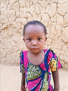 Choose a child to sponsor, like this little girl from Sirba, Rahina age 2