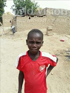 Choose a child to sponsor, like this little boy from Komabangou, Salia age 10