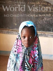 Choose a child to sponsor, like this little girl from Komabangou, Faiza age 7