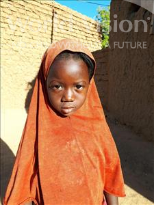 Choose a child to sponsor, like this little girl from Komabangou, Chafatou age 5