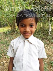 Choose a child to sponsor, like this little girl from Sarlahi, Nirjala Kumari age 8