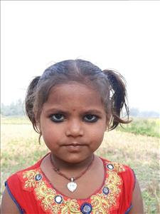 Saloni Kumari, aged 4, from Nepal, is hoping for a World Vision sponsor