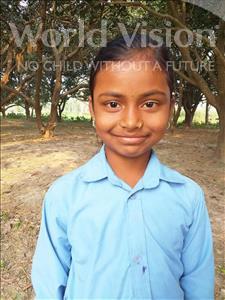 Choose a child to sponsor, like this little girl from Sarlahi, Priti Kumari age 9