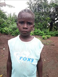 Choose a child to sponsor, like this little boy from Tegloma, Allieu age 5