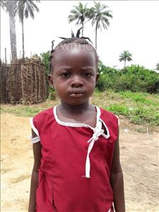 Choose a child to sponsor, like this little girl from Tegloma, Agnes age 5