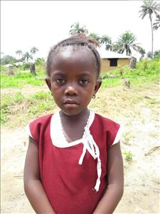 Choose a child to sponsor, like this little girl from Tegloma, Bintu age 6