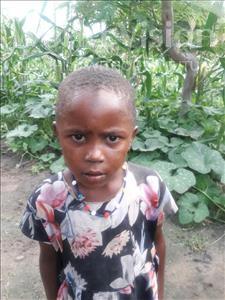 Choose a child to sponsor, like this little girl from Kilimatinde, Kwangu Masunga age 5