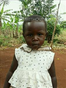 Rehema, aged 3, from Uganda, is hoping for a World Vision sponsor