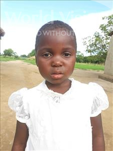 Agness, aged 4, from Zambia, is hoping for a World Vision sponsor