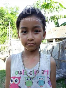 Choose a child to sponsor, like this little girl from Soutr Nikom, Chanty age 8