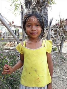 Choose a child to sponsor, like this little girl from Soutr Nikom, Malis age 8