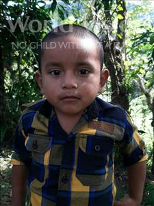 Choose a child to sponsor, like this little boy from Maya, Jorge Enoc age 5