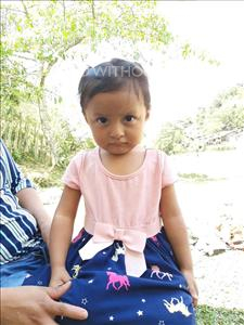 Choose a child to sponsor, like this little girl from Maya, Alessandra Daniela age 2