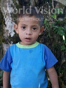 Choose a child to sponsor, like this little boy from Maya, Sergio Joel age 3