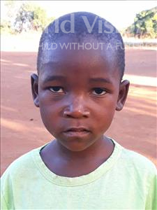 Choose a child to sponsor, like this little boy from Kazuzo, Abilio Joao age 5