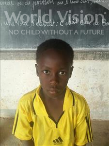 Choose a child to sponsor, like this little boy from Sirba, Gaymane age 7