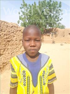 Choose a child to sponsor, like this little boy from Sirba, Ousseyni age 8