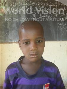 Choose a child to sponsor, like this little boy from Sirba, Billali age 7