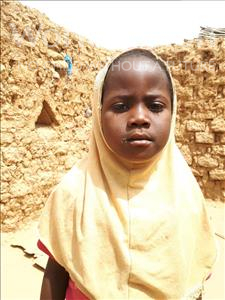 Choose a child to sponsor, like this little girl from Sirba, Rabi age 6