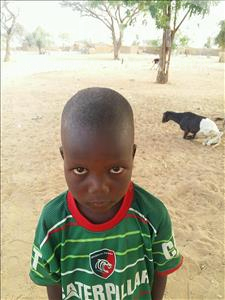 Choose a child to sponsor, like this little boy from Sirba, Soumana age 7