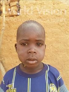 Choose a child to sponsor, like this little boy from Sirba, Tamimou age 6