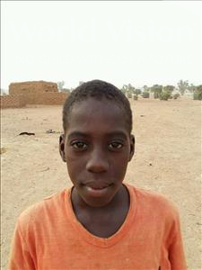 Choose a child to sponsor, like this little boy from Sirba, Boubarak age 9