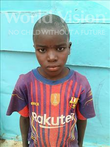 Choose a child to sponsor, like this little boy from Sirba, Mouslim age 7