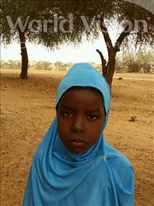 Choose a child to sponsor, like this little girl from Komabangou, Djabiri age 8
