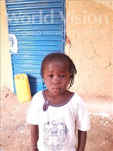 Choose a child to sponsor, like this little girl from Komabangou, Djelika age 8
