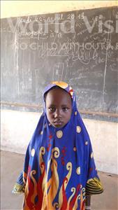Choose a child to sponsor, like this little girl from Komabangou, Zouwera age 8