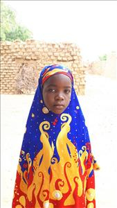 Choose a child to sponsor, like this little girl from Komabangou, Hadjara age 7
