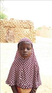 Choose a child to sponsor, like this little girl from Komabangou, Maza age 5