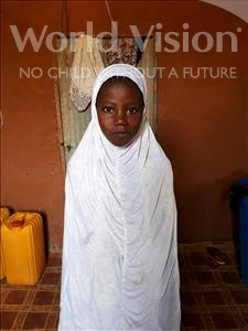 Choose a child to sponsor, like this little girl from Komabangou, Zouwera age 7