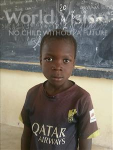 Choose a child to sponsor, like this little boy from Komabangou, Abiboulay age 8