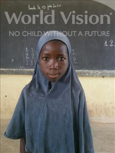 Choose a child to sponsor, like this little girl from Komabangou, Amina age 7