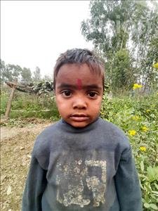 Choose a child to sponsor, like this little boy from Sarlahi, Aarjit age 4