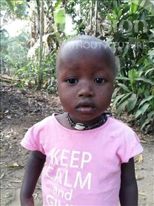 Choose a child to sponsor, like this little girl from Imperi, Brima age 3
