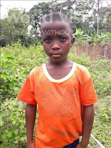 Choose a child to sponsor, like this little boy from Tegloma, Amodu age 9