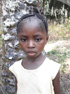 Choose a child to sponsor, like this little girl from Tegloma, Aminata J age 5