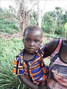 Choose a child to sponsor, like this little girl from Tegloma, Kadiatu age 3